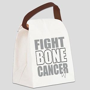 Fight-Bone-Cancer Canvas Lunch Bag