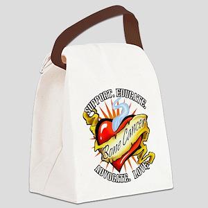 Bone Cancer Tattoo Heart Canvas Lunch Bag