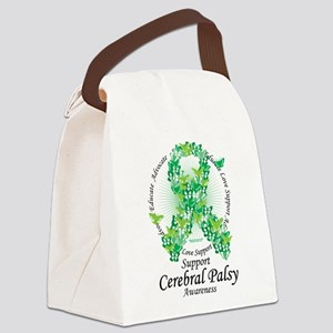 Cerbral-Palsy-Butterfly-Ribbon Canvas Lunch Ba