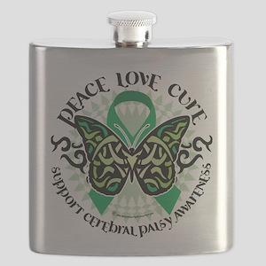Cerebral-Palsy-Butterfly-Tribal-2 Flask