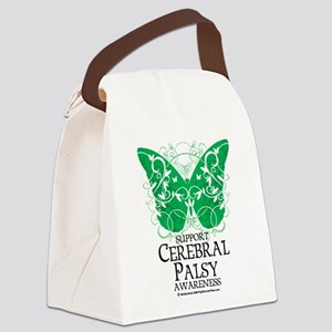 Cerebral-Palsy-Butterfly Canvas Lunch Bag