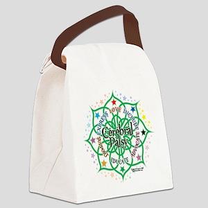 Cerebral-Palsy-Lotus Canvas Lunch Bag