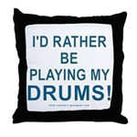 Play Drums Throw Pillow