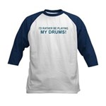 Play Drums Kids Baseball Jersey