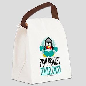 Cervical-Cancer-Boxing-Penguin Canvas Lunch Ba