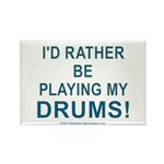 Play Drums Rectangle Magnet