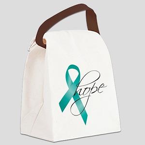 Cervical Cancer Ribbon Hope Canvas Lunch Bag