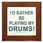 Play Drums Framed Tile