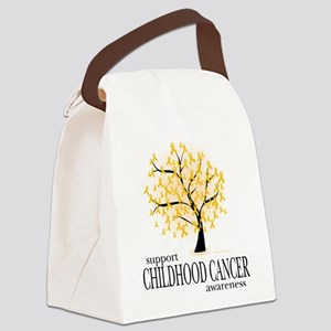 Childhood-Cancer-Tree Canvas Lunch Bag