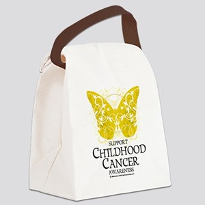 Childhood-Cancer-Butterfly Canvas Lunch Bag