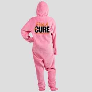 Childhood-Cancer-Find-A-Cure Footed Pajamas