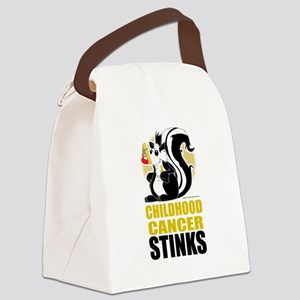 Childhood-Cancer-Stinks Canvas Lunch Bag