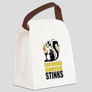 Childhood-Cancer-Stinks Canvas Lunch Bag