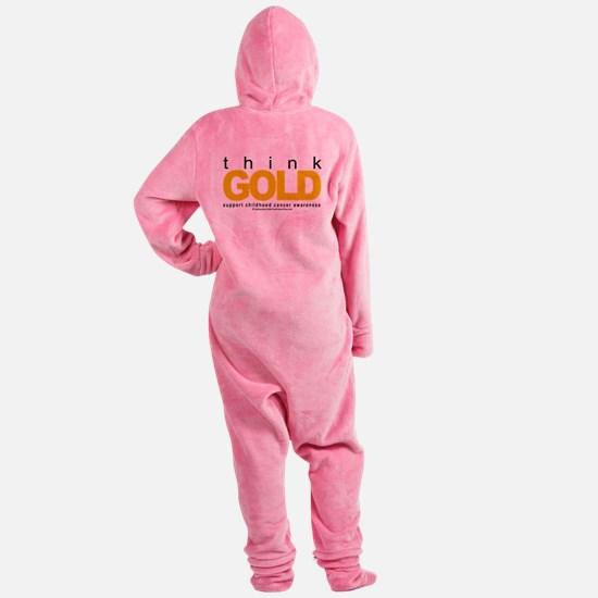 Childhood-Cancr-Think-GOLD.png Footed Pajamas