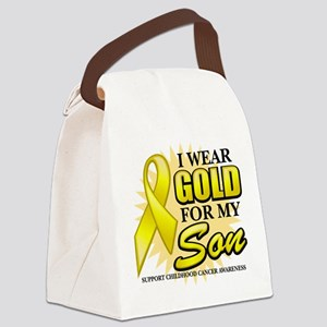 Gold-Son-2-Button Canvas Lunch Bag