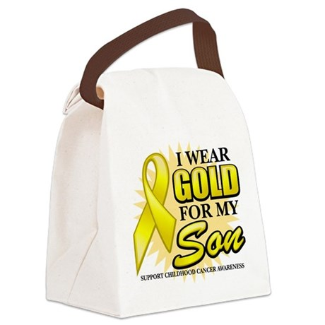 Gold-Son-2-Button.png Canvas Lunch Bag