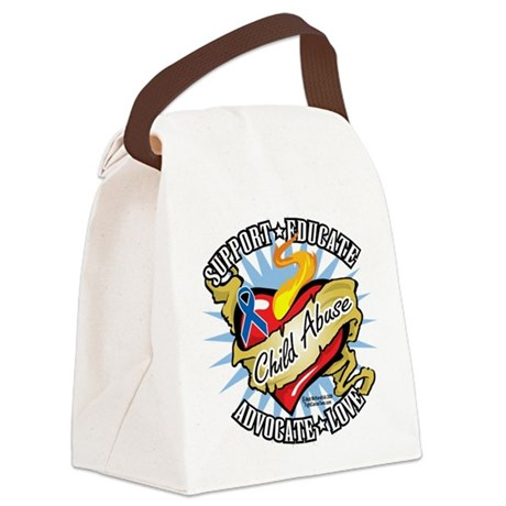Child-Abuse-Classic-Heart Canvas Lunch Bag