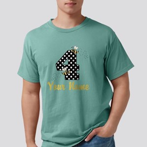 4th Birthday Bumble Bee Mens Comfort Colors Shirt