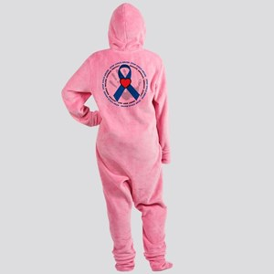Stop-Child-Abuse-Ribbon Footed Pajamas