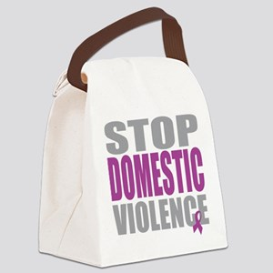 Stop-Domestic-Violence Canvas Lunch Bag