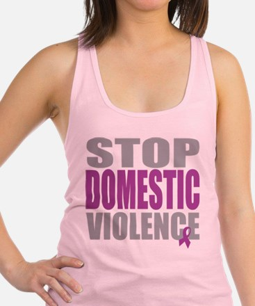 Stop-Domestic-Violence.png Racerback Tank Top