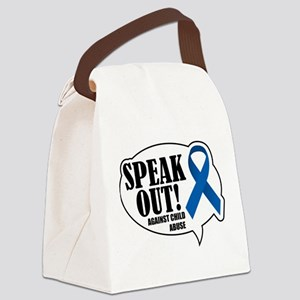Speak-Out-Against-Child-Abuse Canvas Lunch Bag