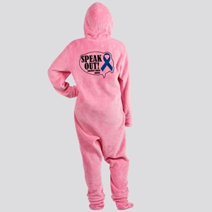 Speak-Out-Against-Child-Abuse Footed Pajamas