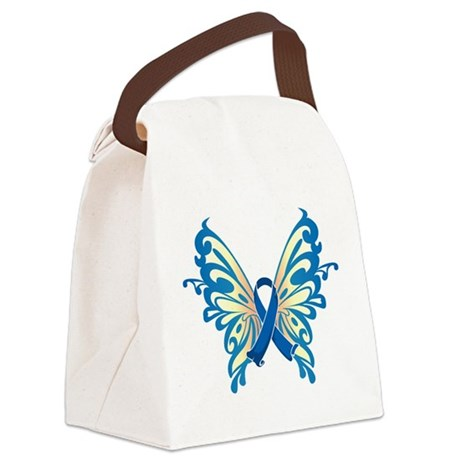 Blue-Butterfly-2009.png Canvas Lunch Bag