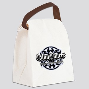 Colon-Cancer-tribal Canvas Lunch Bag