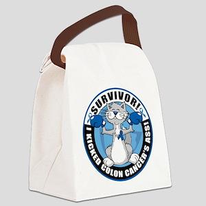 Colon Cancer Survivor: Boxing Canvas Lunch Bag