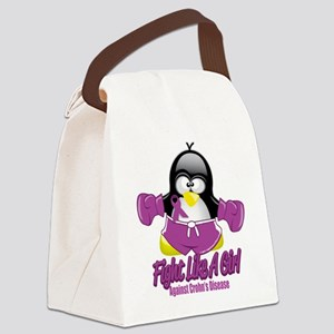 Crohns-Disease-Fighting-Penguin Canvas Lunch B