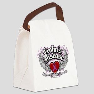 Crohns-Disease-Wings Canvas Lunch Bag