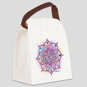Crohns-Disease-Lotus Canvas Lunch Bag