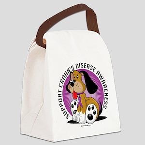 Crohns-Disease-Dog Canvas Lunch Bag