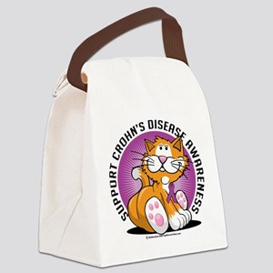 Crohns-Disease-Cat Canvas Lunch Bag