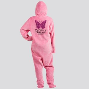 Crohns-Disease-Butterfly Footed Pajamas