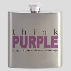Think Purple: Crohn's Disease Flask