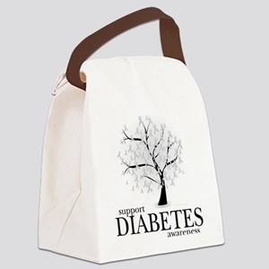 Diabetes-Tree Canvas Lunch Bag