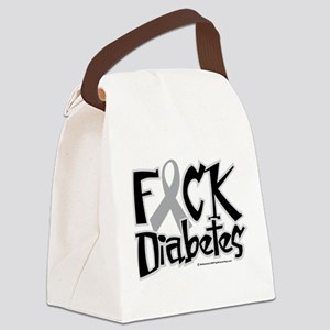 Fuck-Diabetes Canvas Lunch Bag