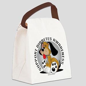 Diabetes-Dog Canvas Lunch Bag