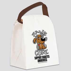 Paws-for-the-Diabetes-Cancer Canvas Lunch Bag