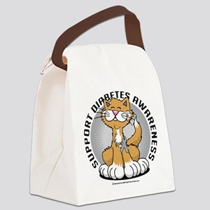 Paws-for-Diabetes-Cat Canvas Lunch Bag