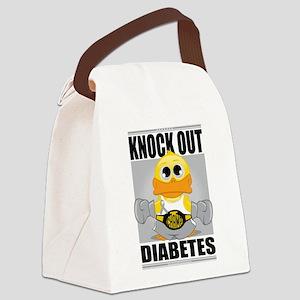 Knock-Out-Diabetes Canvas Lunch Bag