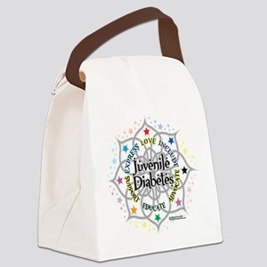 Juvenile-Diabetes-Lotus Canvas Lunch Bag