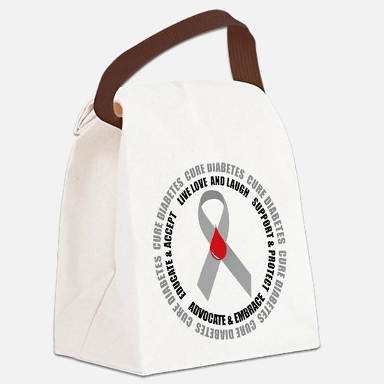 Diabetes-circle-wht.png Canvas Lunch Bag