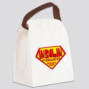 iNSULIN pOWERblk Canvas Lunch Bag
