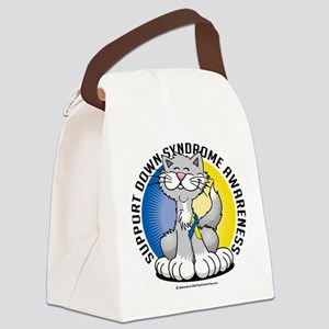 Paws-for--Down-Syndrome-Cat Canvas Lunch Bag