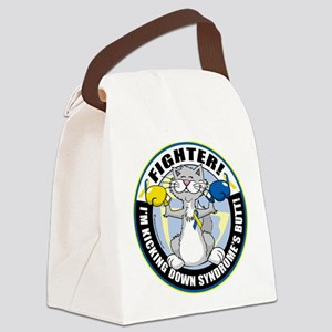 Down-Syndrome-Fighter-Cat Canvas Lunch Bag