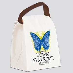 Down-Syndrome-Butterfly Canvas Lunch Bag
