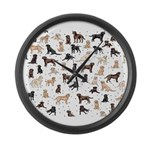 ROOSTER ROOSTER!! Large Wall Clock